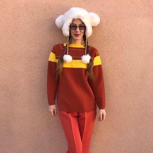 S N O W Vintage Orange Snow Sweater